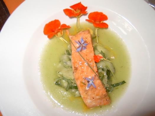 Essen und Trinken Lachs