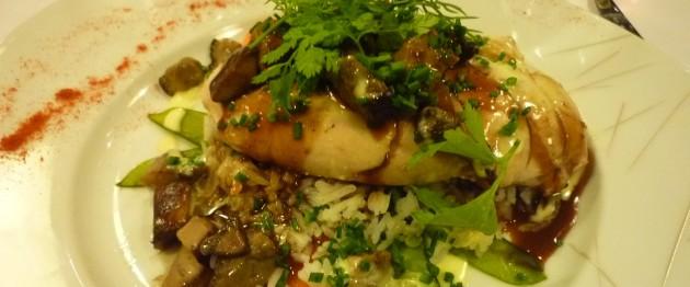 Poularde mit Reis