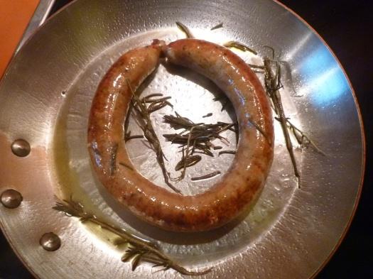 Möhrenwurst in der Pfanne