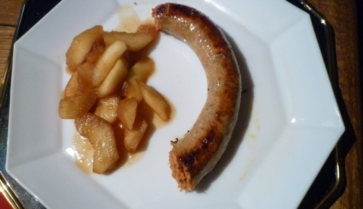 Möhrenwurst mit Äpfel