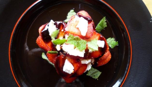 Erdbeeren - Ziegenkäse