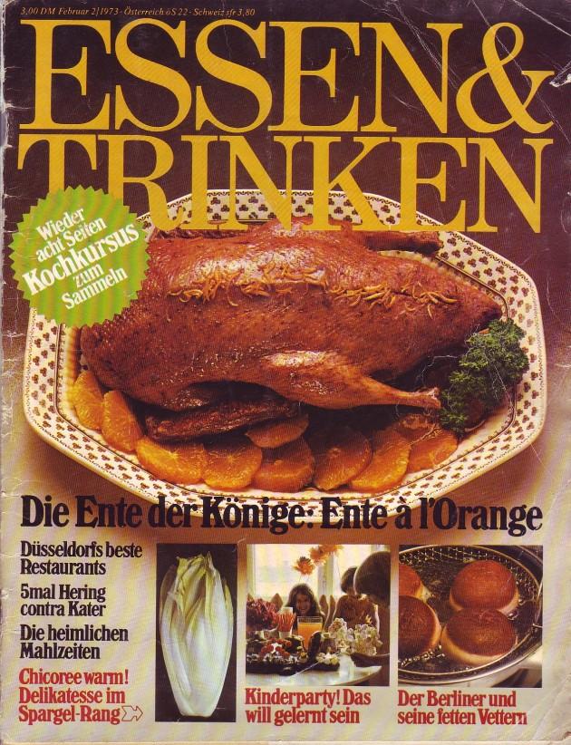 Essen und Trinken Februar 1973