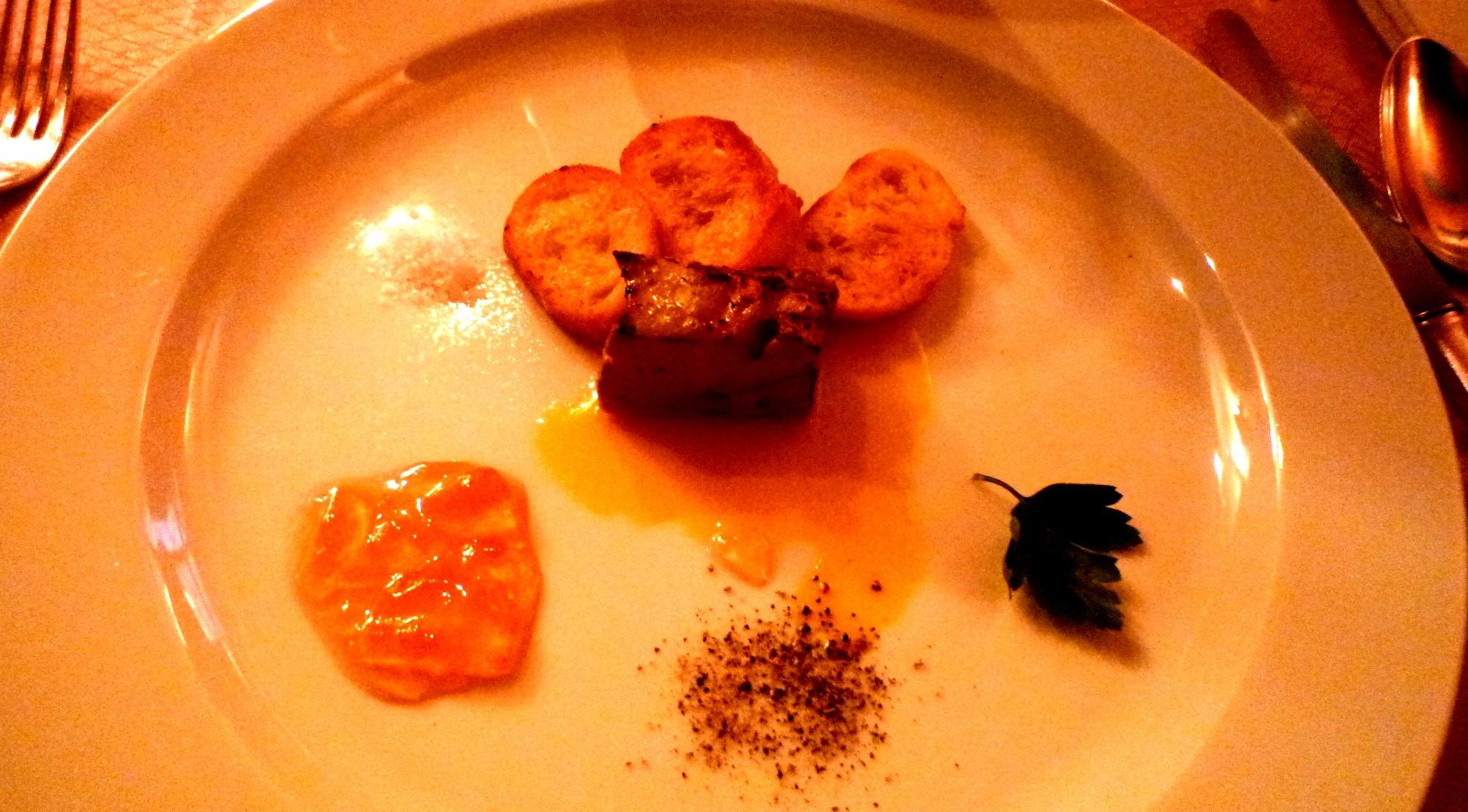 Foie gras de canard mit Quittengelee