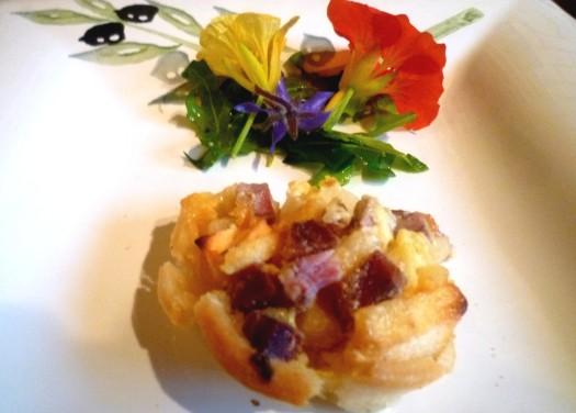 Tarte d' Andouille und Apfel
