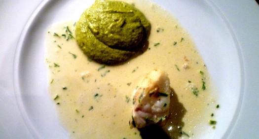 Seeteufel - Broccoliemousse - Estragonsauce