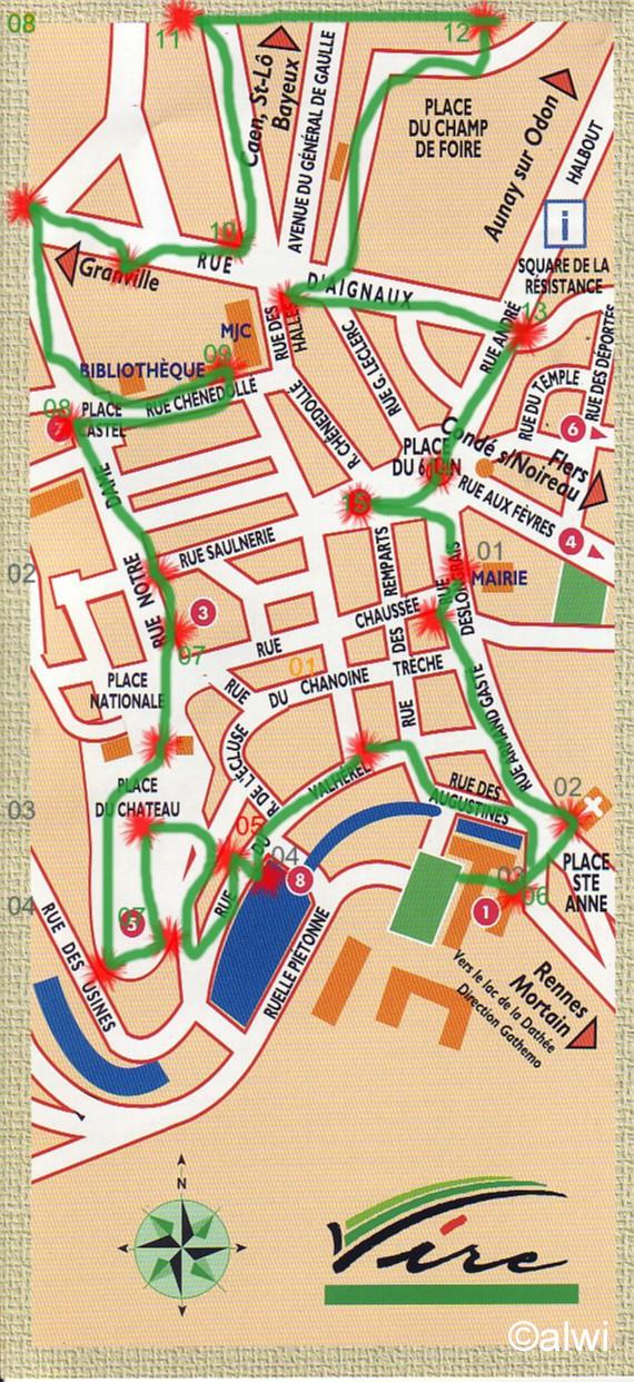 Vire Stadtplan