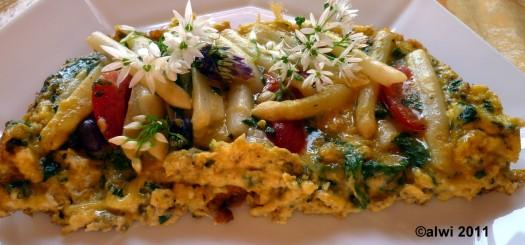 Omelette mit Spargel