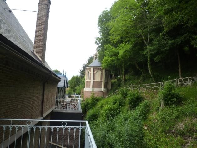 Blick von der Terrasse.