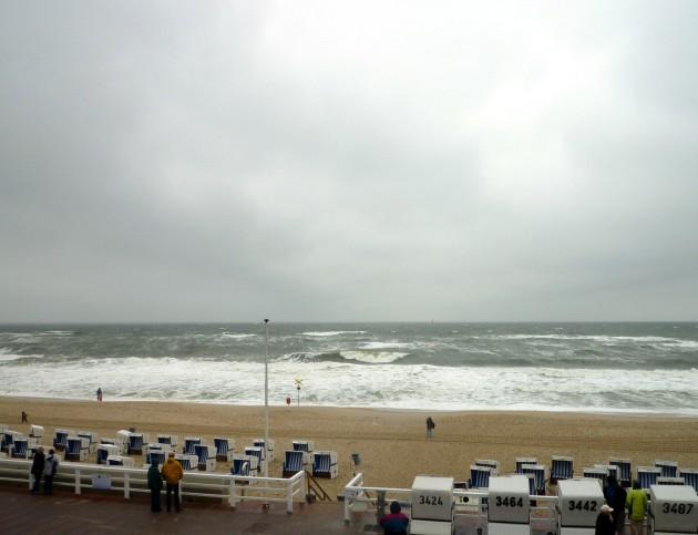 Westerland bei Sturm
