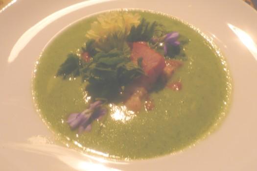 Suppe von Kopfsalat