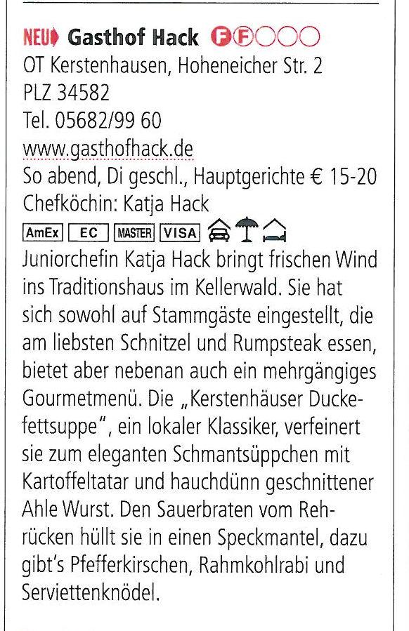 2013 Gasthof Hack