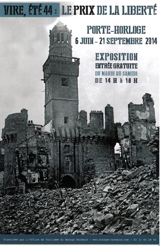02 Uhrenturm Vire 06.06.1944