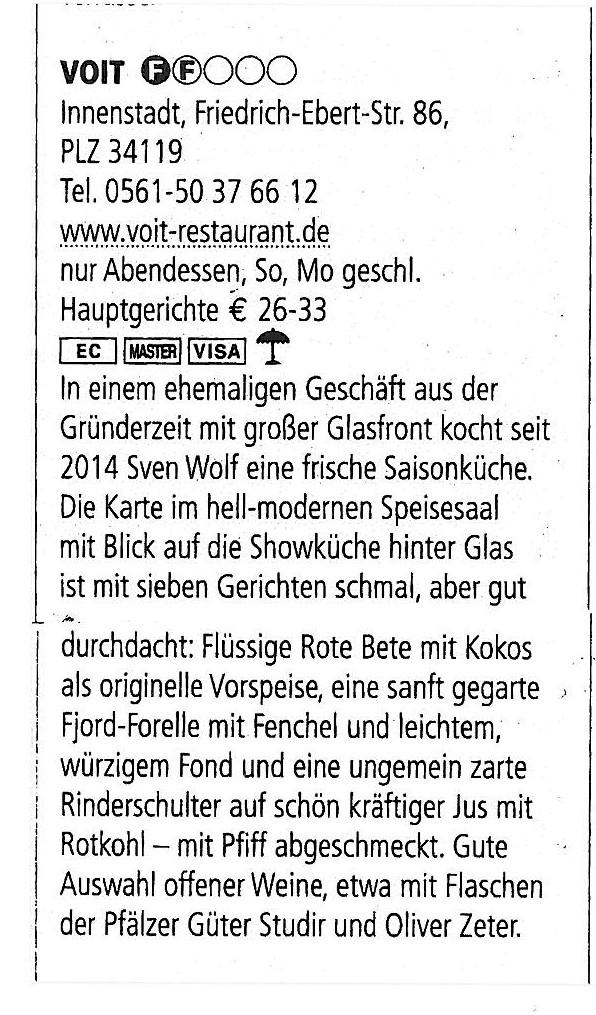 2016 Voit Kassel